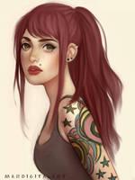 Ink stars by Mardigitalart