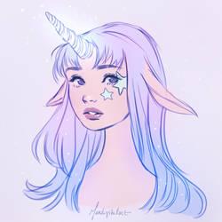 Unicorn girl by Mardigitalart