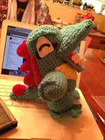 Totodile crochet pattern by Robezpierre