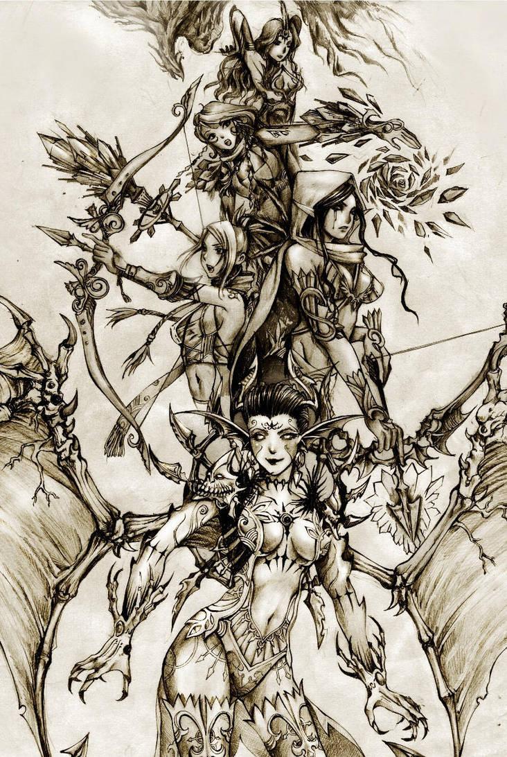 DOTA Allstars - Stand of the Heroines by KenshjnPark