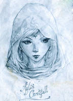 Daily Sketch - Rylai Crestfall The Crystal Maiden by KenshjnPark