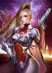 Cyberpunk Chick by KenshjnPark