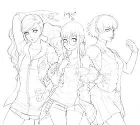 Girls Power _ Persona 5 fanart _sketch by KenshjnPark