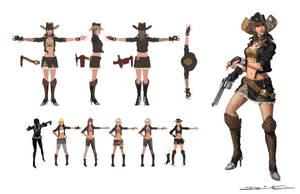 Punk Cowgirl by Zureul