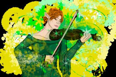 Elf with a violin by mrPaRblo