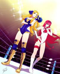COM Akiha and Luvia Tag Team by chou-roninx