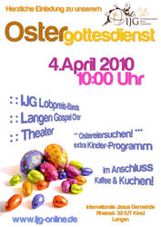 Poster: Easter Service 2010 by Jonacid