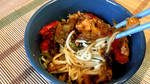 Sweet Red Pepper Chicken Lo Mein (Youtube Video) by KupcakeKitty