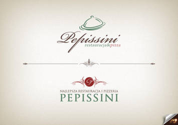 pepissini pizza logo by t3t5uo