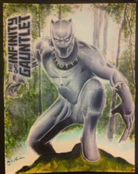 Black Panther marvel comic cover sketch/painting by kevinsunfiremunroe