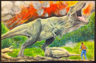 Jurassic World Fallen Kingdom tRex 11x17 sketch by kevinsunfiremunroe
