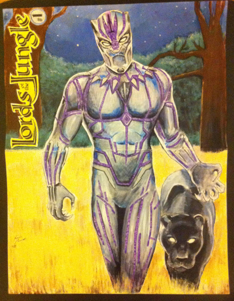 Black Panther Lords of the Jungle comic cover by kevinsunfiremunroe