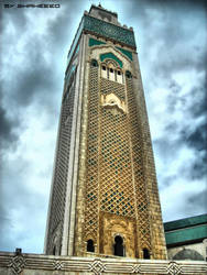 Hassan mosque minaret by shaheeed