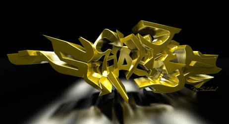 Shaheeed 3d golden graf by shaheeed