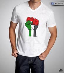 Plestine fist T-shirt by shaheeed