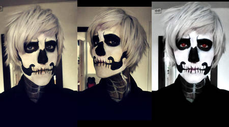 Make-up test Halloween!Prussia by yiangillium