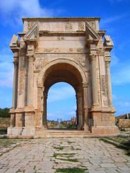Lepcis Magna Arc de Triomphe by Syltorian