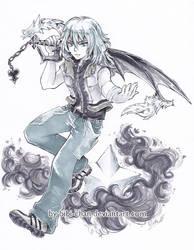 Monochrome Riku - Kingdom Hearts commission by bibi-chan