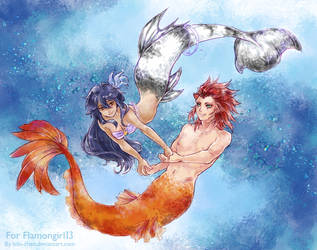 Underwater paradise :: Commission for Riss by bibi-chan
