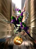 The Green Goblin Strikes by HarryBuddhaPalm