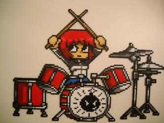 Scott Pilgrim vs The World Kim Pine on Drums by RetroNinNin