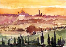 Veduta di Siena by andreuccettiart