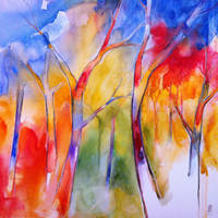 Colors of the forest by andreuccettiart