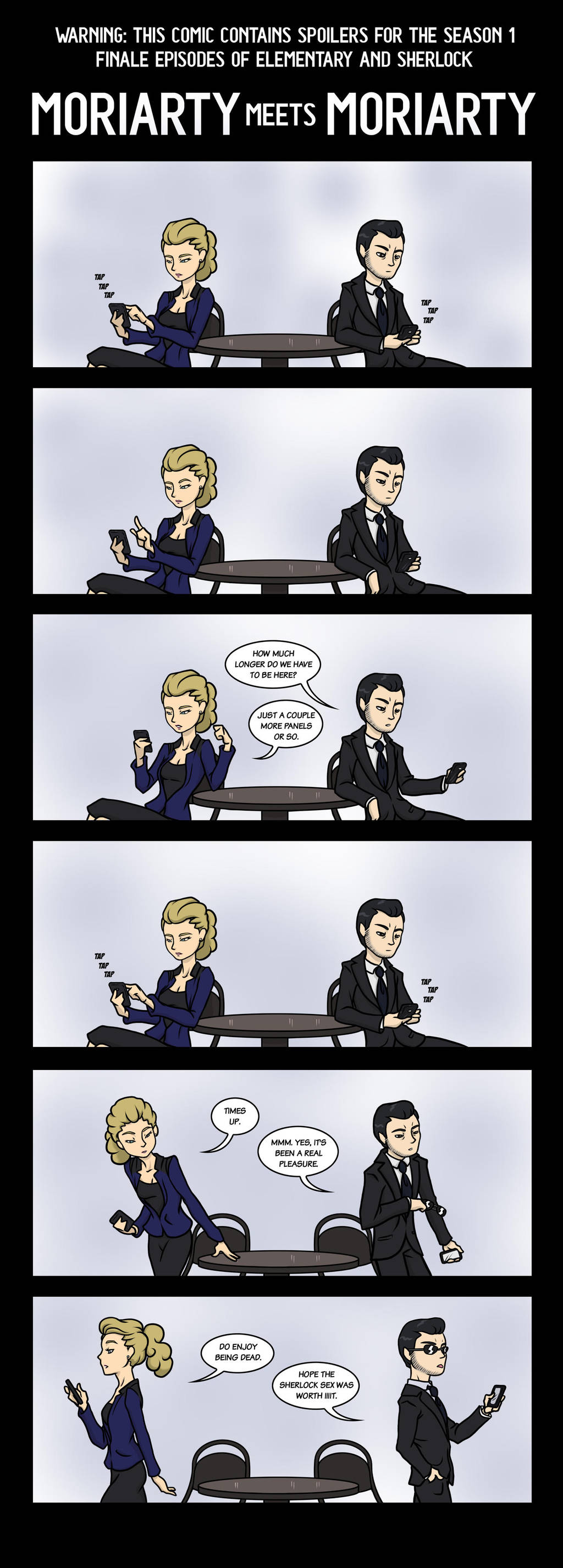 Elementary Sherlock Moriarty Meets Moriarty By Maryfgr23 On Deviantart