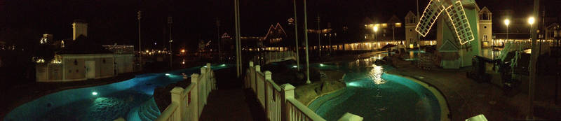 Stormalong Bay pool lights off pano 2 by Shadow-Dragon-777