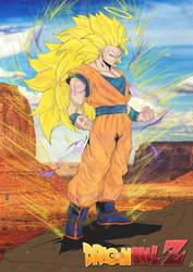 Toni Gutierrez Art Goku SS3 color by Lion542