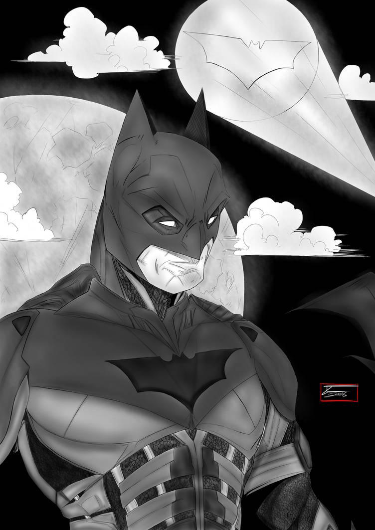 Toni Gutierrez Art Batman Christian Bale i+s by Lion542