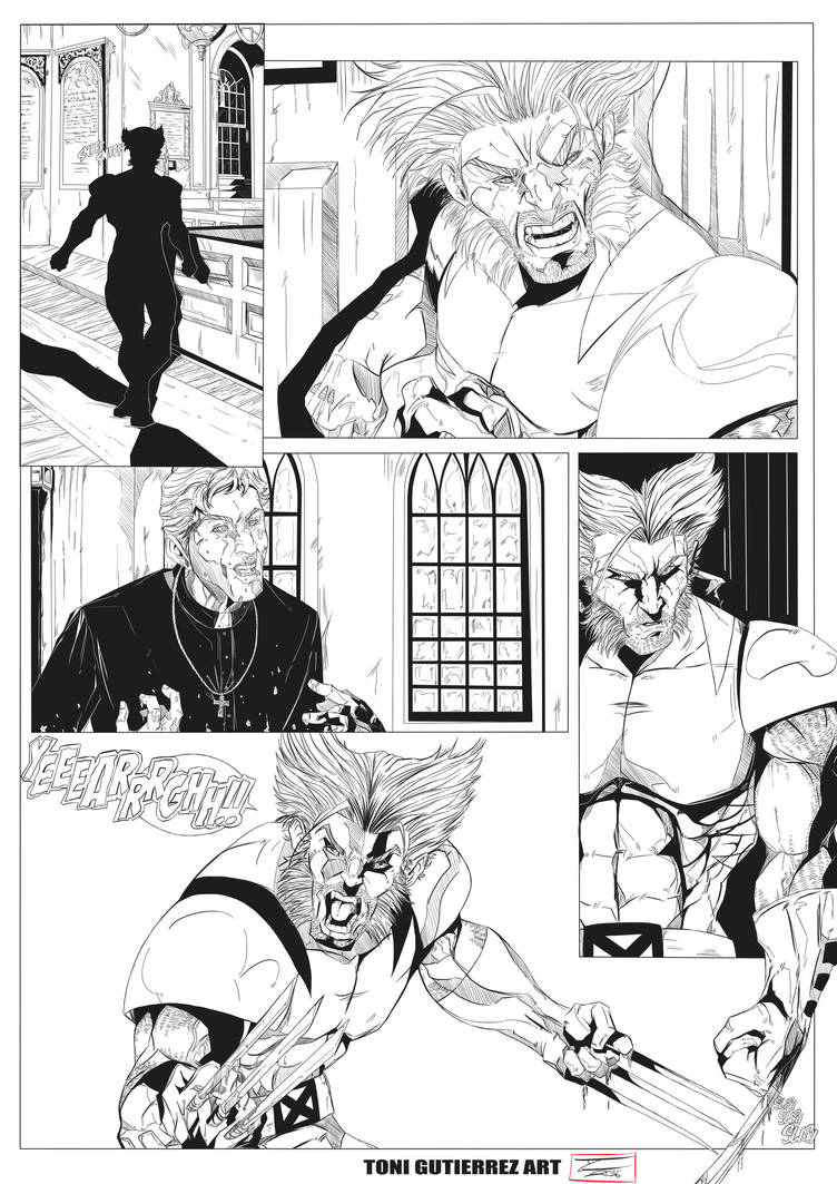 Page Wolverine Inks by Lion542