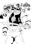 Toni Gutierrez Art power ranger blanco INKS 2 by Lion542
