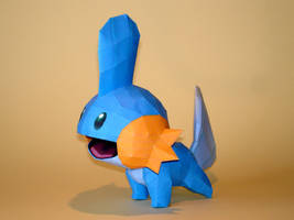 Mudkips Papercraft by Skele-kitty