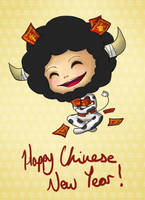 Happy Year of the Ox by chisa