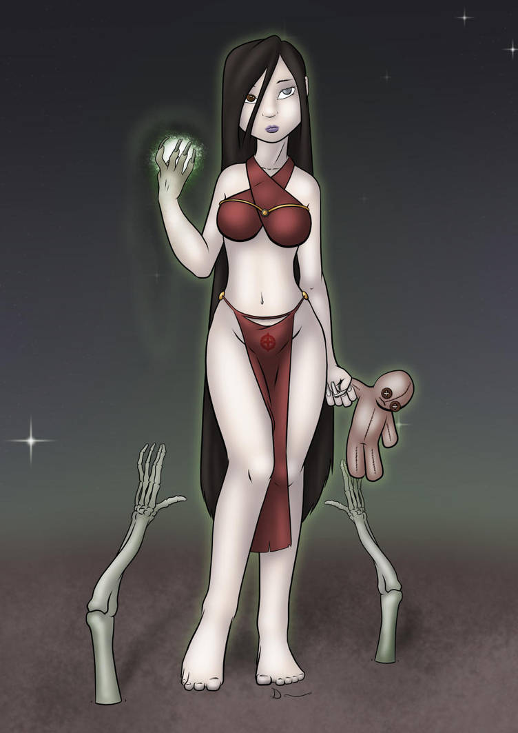Caellia Inferimortuus, Gravewalker Witch by Danaume