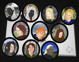 Ten portraits by Podopteryx