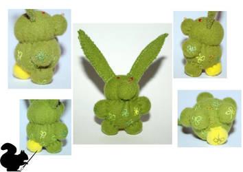 Green rabbit by Podopteryx