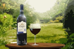 A glass of wine by Cheezen