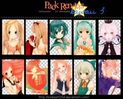 Pack renders kawaii 3 by KillerJeff234
