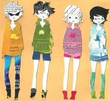 homestuck bookmarks - alpha kids by hitorineko