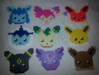 Perler Eeveelution magnet set by ManiacalRemedies