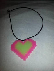 Glow in the dark necklace by ManiacalRemedies