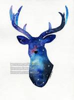 Galaxy Deer by Hikasawr
