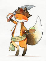 Pirate Fox by Hikasawr