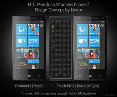 HTC Mondrian Windows Phone 7 by Livven