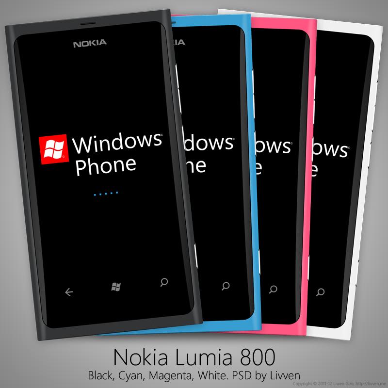 Nokia Lumia 800 PSD by Livven