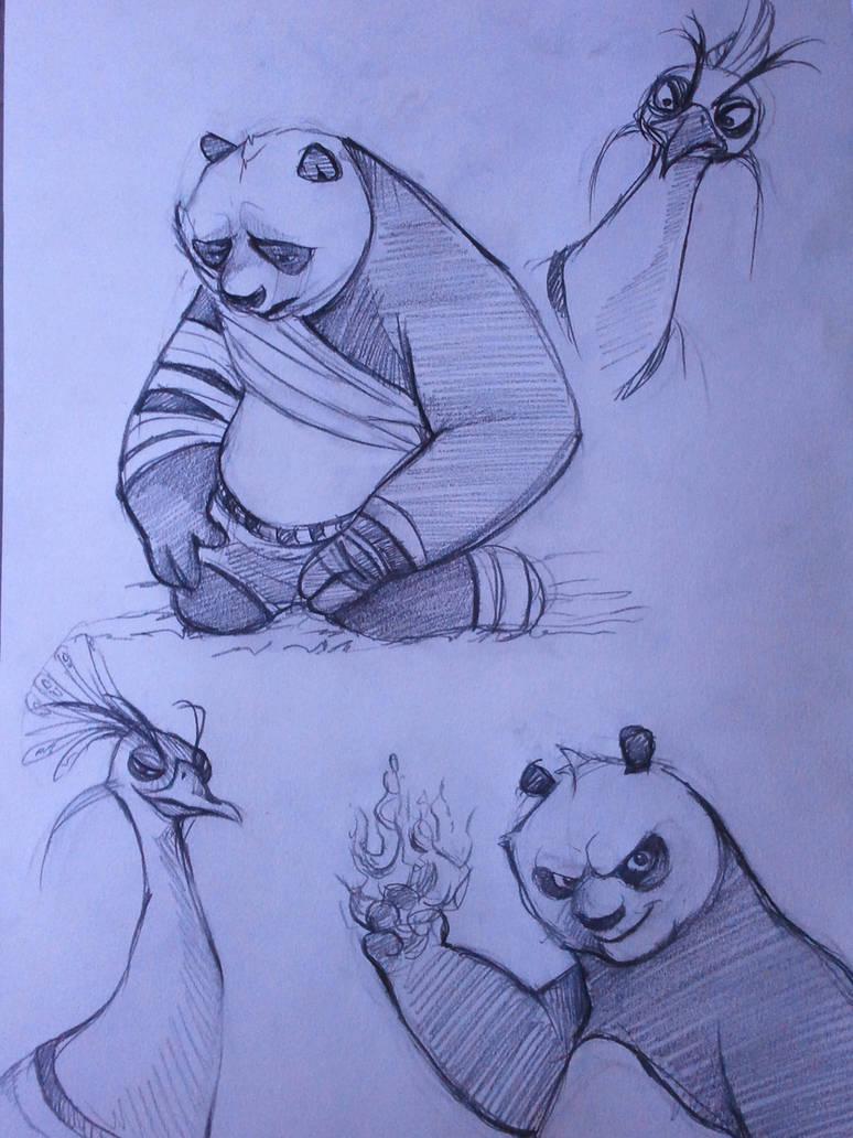Kung Fu Panda 2 sketches by ChanChili