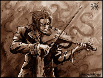 evil violinist by FASSLAYER