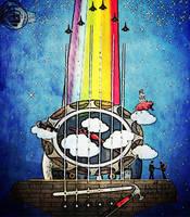 Pink Floyd Sky Guitar by Djomarino